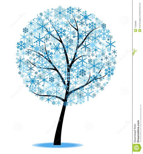 winter tree clipart blue   cliparts