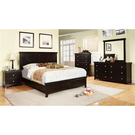 espresso queen bedroom set furniture of america fanquite 4 piece queen bedroom set in
