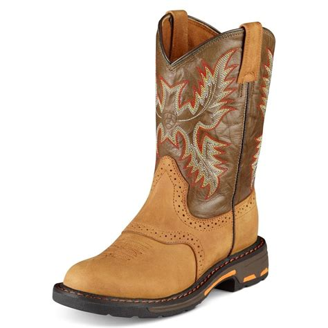 children s cowboy boots ariat youth workhog toe children s cowboy work boot