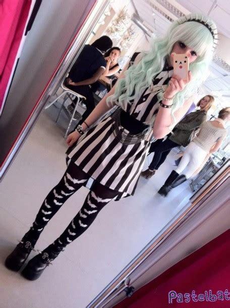 kawaii pastel goth fashion tumblr dress goth punk pastel goth emoji print belt kawaii