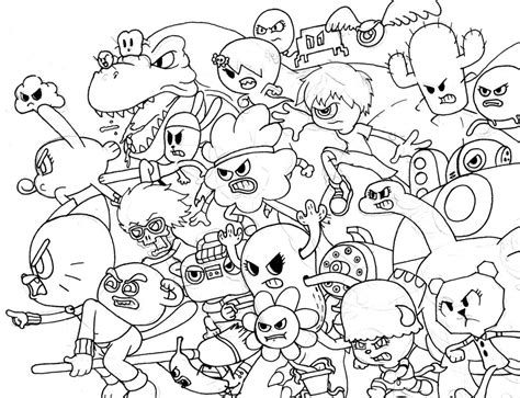 gumball cartoon coloring book pages coloring pages