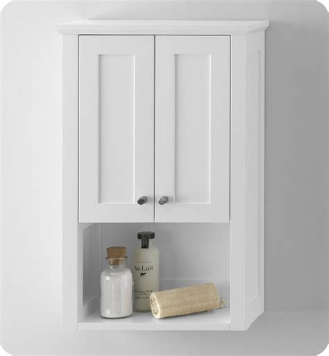 White Bathroom Wall Cabinet Ronbow 688118 3 W01 Shaker Bathroom Wall Cabinet In White