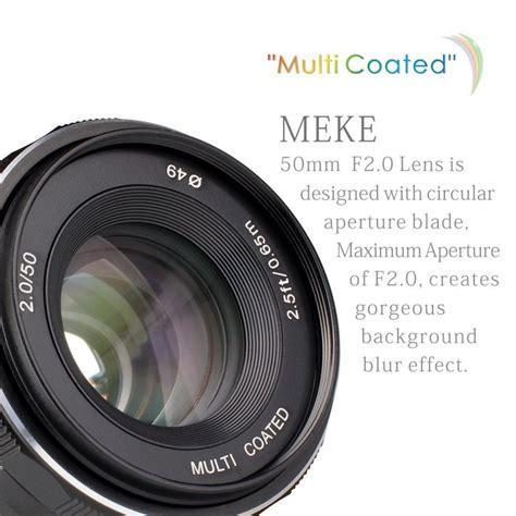 Meike 50mm F2 0 Aps C For Sony E Mount obiettivo meike mk 50mm f2 per sony e mount