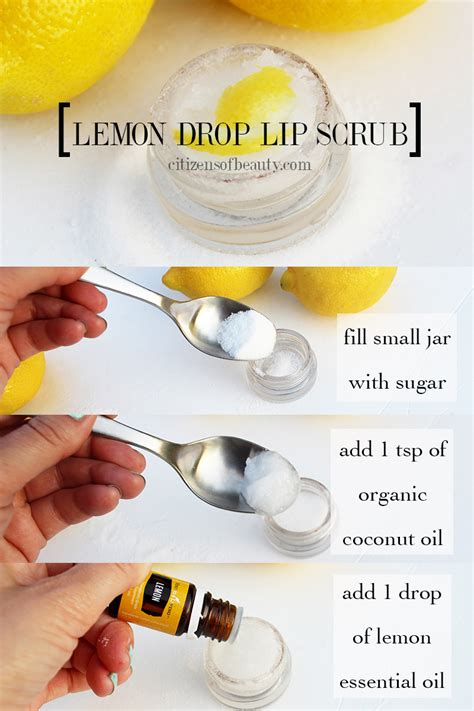 how to make a sugar lip exfoliating scrub everyday roots diy lemon drop lip scrub citizens of beauty