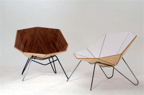 Origami Folding Furniture - cut fold modern origami like furniture design milk