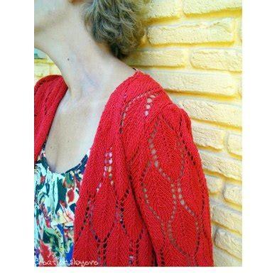 Lace Cardi leaf lace cardi knitting pattern by siatra