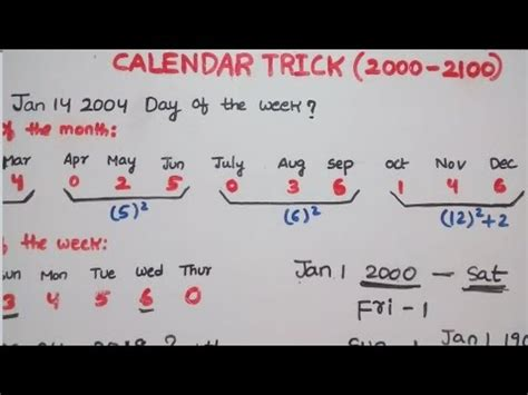 trick  solve calendar problems     secs   years youtube