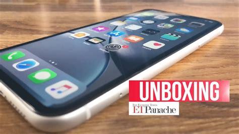iphone xr unboxing impression india unit white etpanache