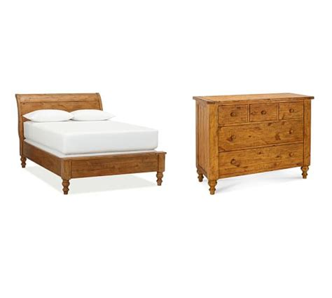 pottery barn sleigh bed ashby sleigh bed dresser set pottery barn