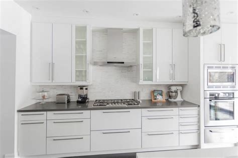 simcoe street white grey kitchens kitchen remodel modern white grey kitchen design oakville modern