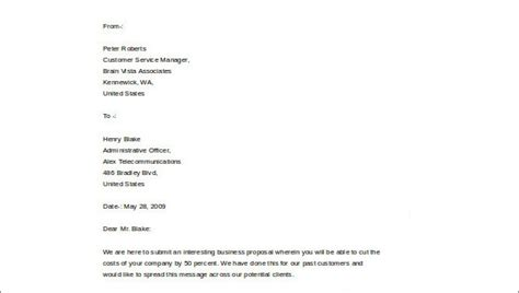 business plan cover letter samples sample templates