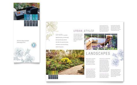 urban landscaping tri fold brochure template design