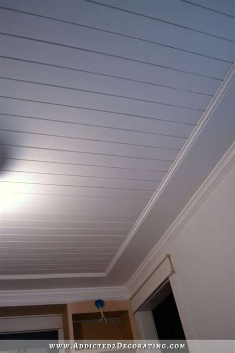 stains music rooms and plywood ceiling on pinterest my finished music room ceiling painted wood plank ceiling