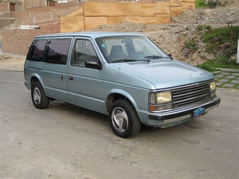 89 plymouth voyager camioneta plymouth voyager 1989