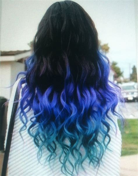 colored tips on hair colored tips hair