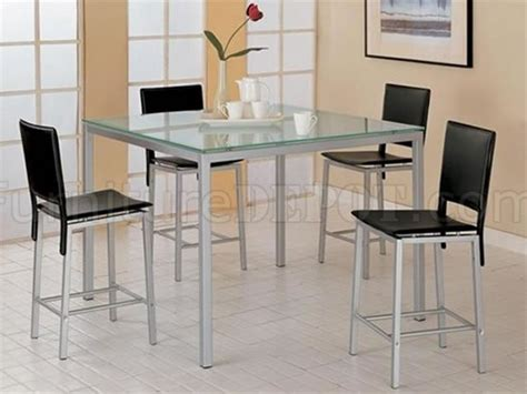 Frosted Bar Top by Counter Height Dinette With Frosted Glass Top