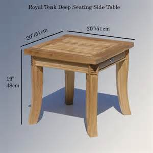 Outdoor Patio Side Table by Teak Outdoor Garden End Table Royal Patio Side Table