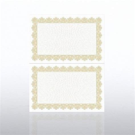 certificate paper scallop half size gold at