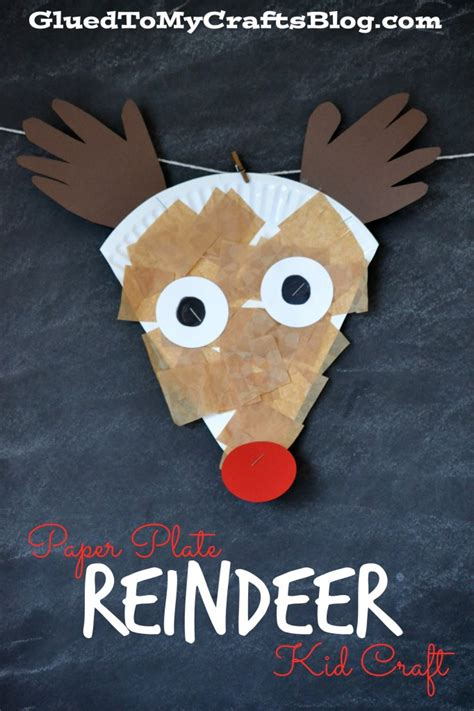 reindeer paper craft paper plate reindeer kid craft
