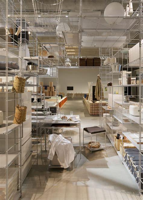 fumihiko sano installation  muji shelving shelving
