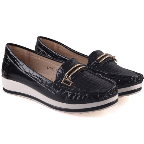 comfy flat shoes unze womens isa comfy flat casual shoes uk size 3 8 black