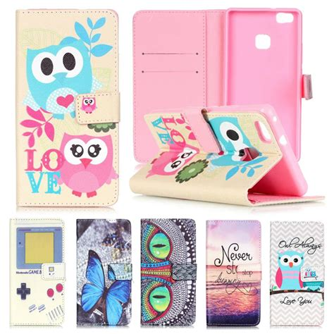 Huawei P9 Lite Leather Wallet Soft Back Cover Slot Card wallet phone for coque huawei p9 lite flip