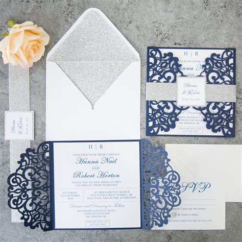 Wedding Invitations Navy Blue by Ten Most Gorgeous Navy Blue Wedding Color Palette Ideas