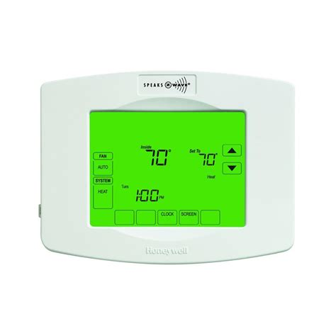 Honeywell Z Wave 7 Day Touchscreen Thermostat with Wiresaver TH8320ZW   The Home Depot