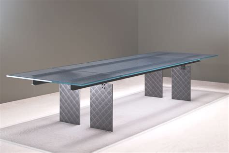 Glass Meeting Table Steel And Glass Conference Table Glass And Steel Boardroom Table Stoneline Designs