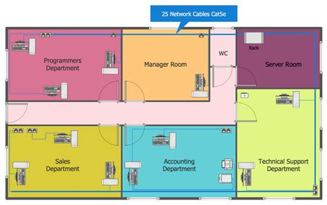 floor diagram network layout floor plans solution conceptdraw