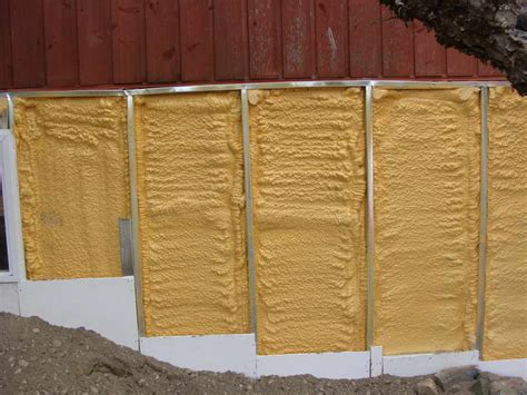 miscellaneous spray foam insulation with color yellow