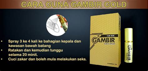 gambir gold spray sericinta