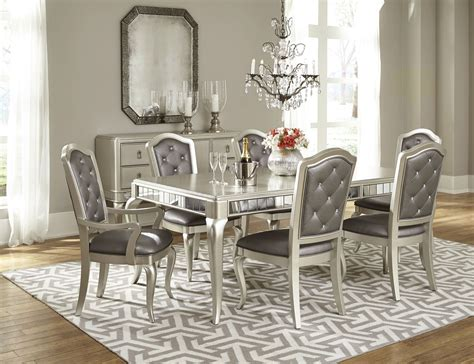 rectangular extendable leg dining room set from