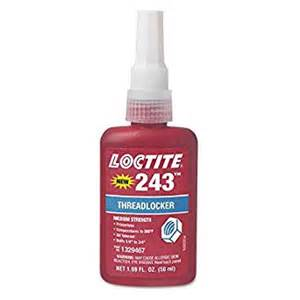 loctite colors loctite 1329467 243 blue medium strength threadlockers 1
