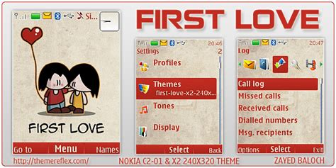 love themes for nokia x2 first love theme for nokia x2 240 215 320 themereflex