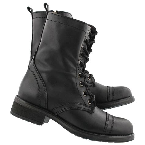 steve madden s troopa 4 0 black lace up combat boots