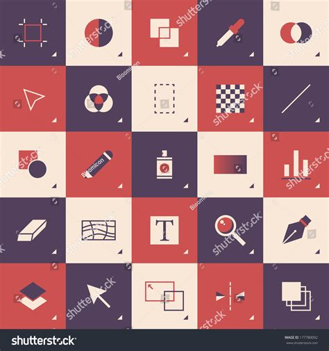 flat design style modern vector illustration concept of abstract graphic design toolbar with