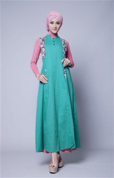 desain dress casual muslim contoh gaya busana muslim casual terbaru