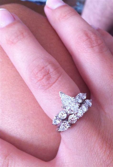 pear ring help with wedding band weddingbee