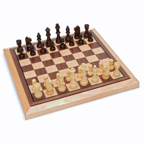 chess set classic folding chess set wood board 10 75 in wood