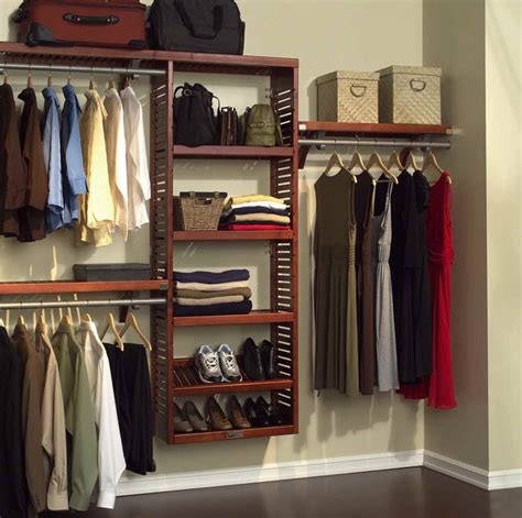 Clothes Closet Design Closets Wooden Open Closet Neat Organization Amazing