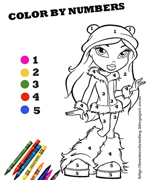 brats number color by numbers free printable coloring page