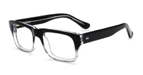 Frame Kacamata Rayban 611 retro clear to black fade glasses cool eyewear sweet and the o jays