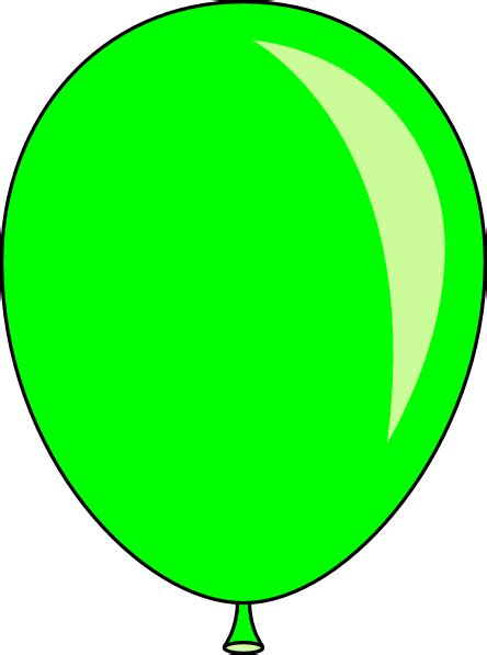 clipart ballo new green balloon clip at clker vector clip