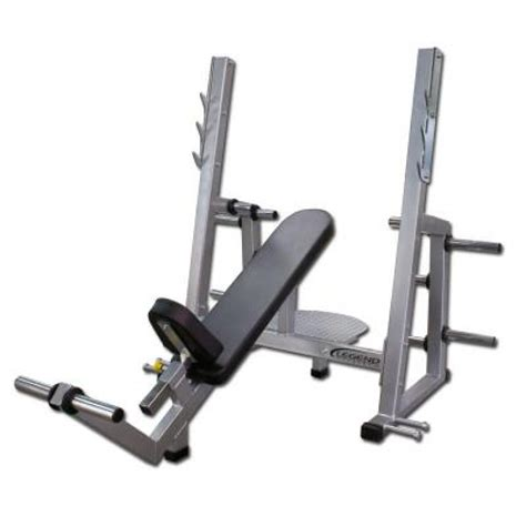 incline bench legend fitness pro series olympic incline bench
