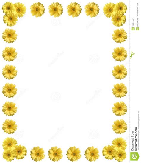 coloring pages yellow flower frame with copy space