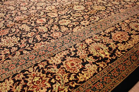valore tappeto persiano tappeto persiano gom pura seta 298x200 cm nero oro ebay