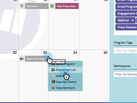 Marketing Calendar Docs Edit Entries Directly In The Marketing Calendar Marketo