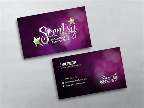 printable business card template for scentsy scentsy business cards free shipping