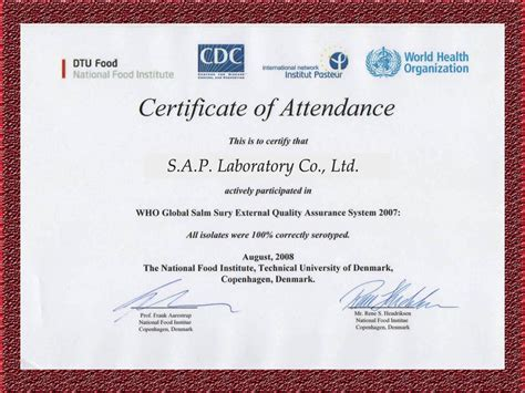 certificate of attendance template certificate of attendance template pictures to pin on